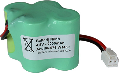 Noodverlichting accupack NiMH 4,8V 2000mAh