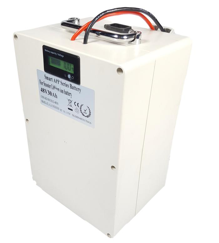 Lithium accu 48V 30Ah (13S) met APP inclusief 6A lader
