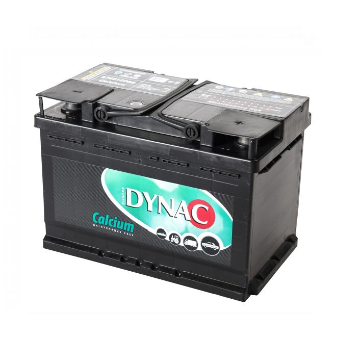 Auto accu / Startaccu 12V 74Ah Dynac calcium LMFV 57412L