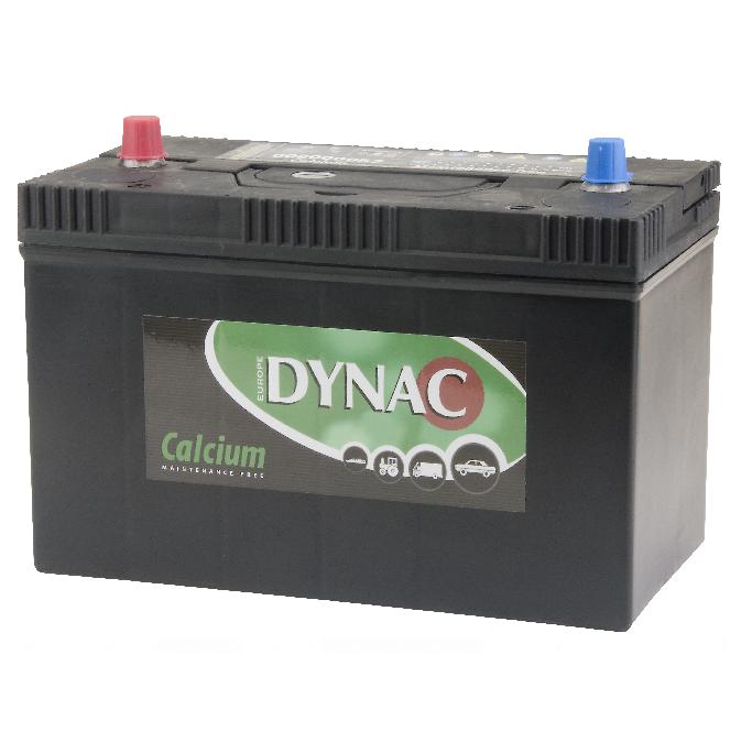Auto accu / Startaccu 12V 102Ah Dynac calcium 60800