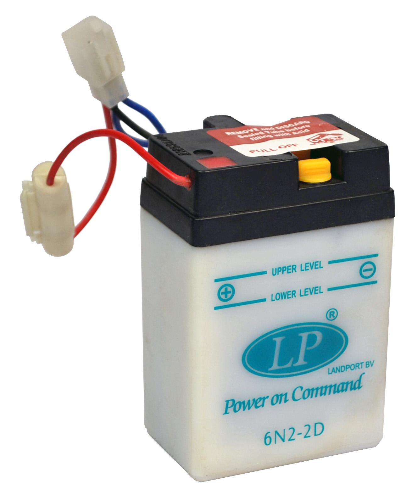 6N2-2D motor accu zonder zuurpakket