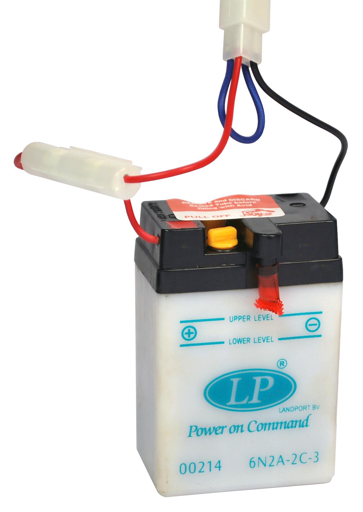 6N2A-2C-3 motor accu zonder zuurpakket