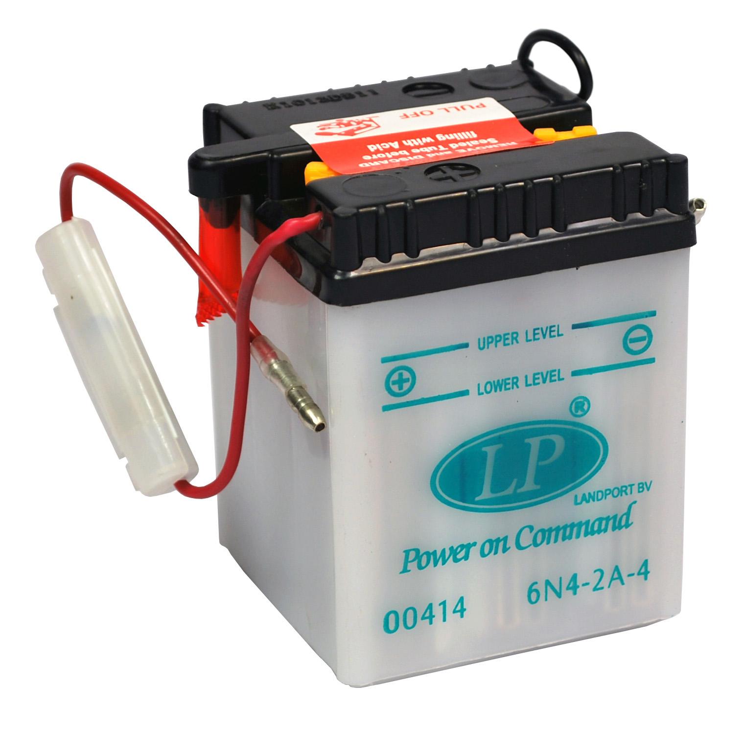 6N4-2A-4 motor accu met zuurpakket