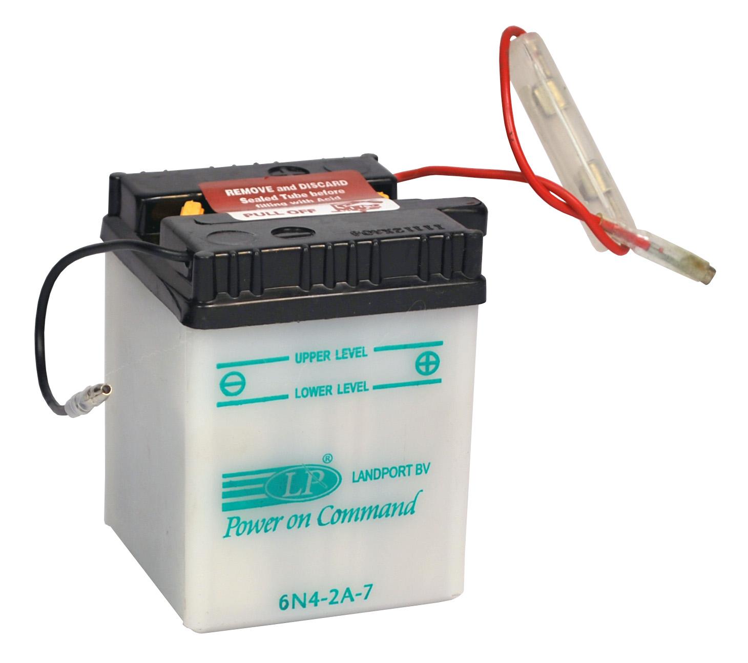 6N4-2A-7 motor accu met zuurpakket