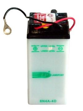 6N4A-4D motor accu met zuurpakket