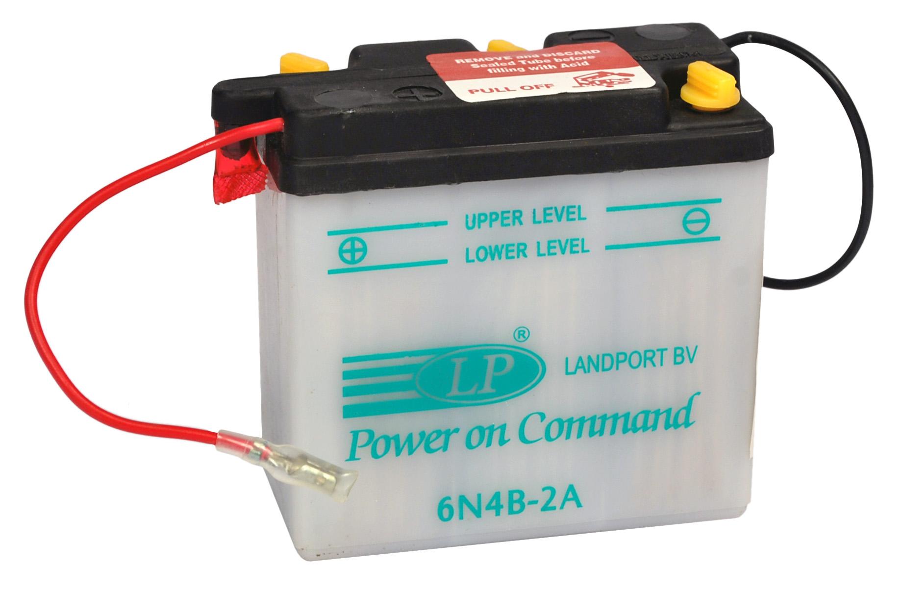 6N4B-2A motor accu met zuurpakket