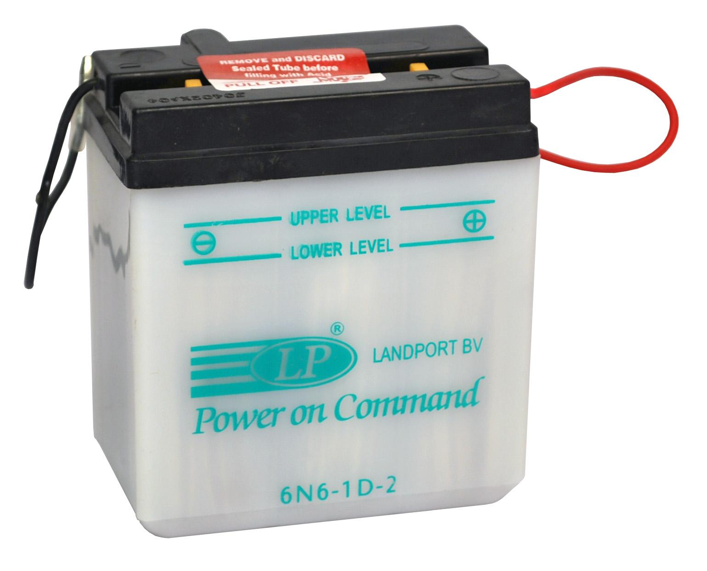 6N6-1D-2 motor accu met zuurpakket