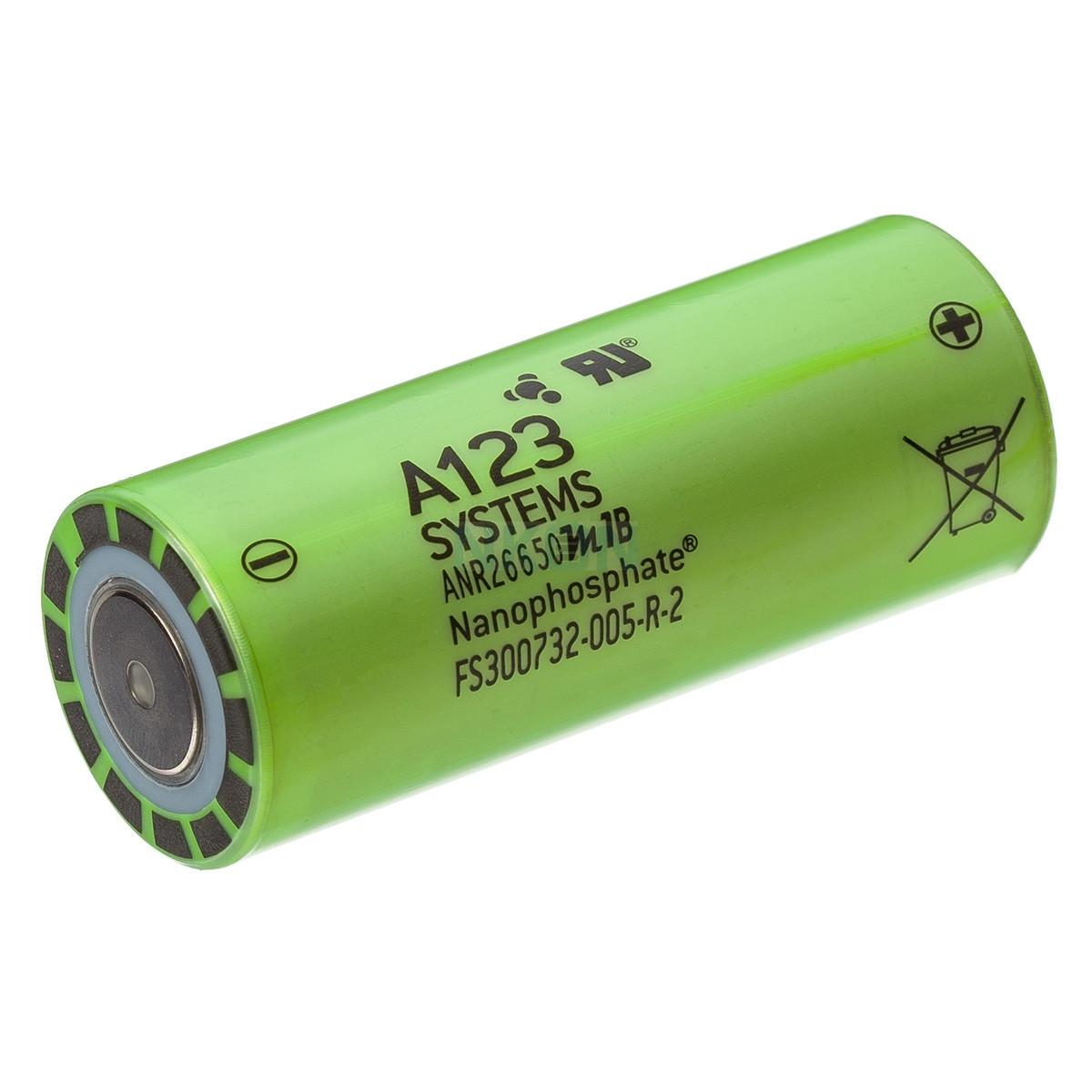 Lithium Werks (A123) LifePo4 ANR26650 3,3V 2500mAh oplaadbare batterij
