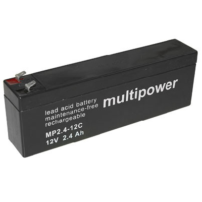 AGM Loodaccu Multipower MP2.4-12C Loodaccu 12V 2400mAh
