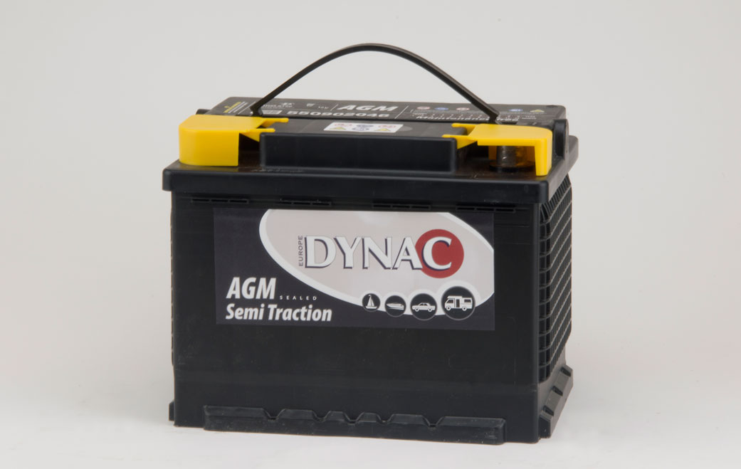 AGM Semi tractie accu (12V 50Ah)