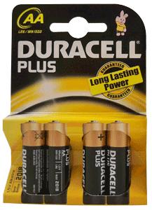 Duracell MN1500 Plus AA (4 stuks)