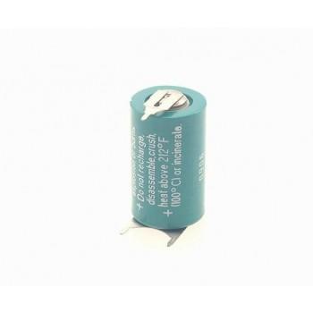 Foto batterij CR 1/2 AA 3 pins printplaat aansluiting Lithium 3V - 950 mAh