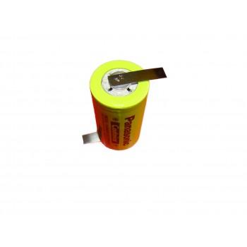 Panasonic Batterij 1,2V 3000mAh C cell NiCd ( met soldeerlippen )