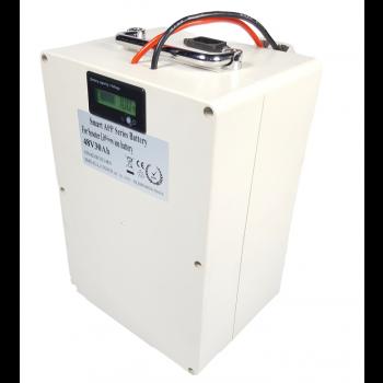 Lithium accu 48V 30Ah met APP inclusief 6A lader