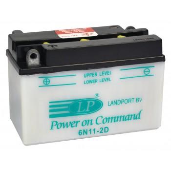 6N11-2D motor accu zonder zuurpakket