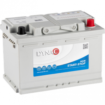 Dynac AGM Start-Stop Auto Accu 12V 70Ah
