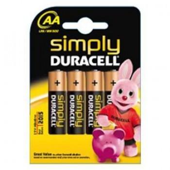 Duracell MN1500 simply AA (4 stuks)