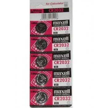 CR2032 knoopcell 3V Maxell (5 stuks)