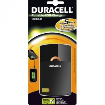 Duracell portable USB Charger 1800mAH 5H