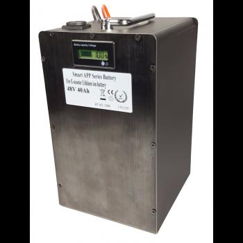 Lithium accu 48V 40Ah (13S) met APP inclusief 6A lader