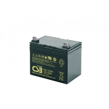 Deep cycle AGM loodaccu 12V 34Ah EVX12340 van CSB Battery