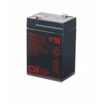 GP645 van CSB Battery AGM loodaccu 6V 4,5Ah