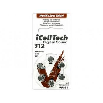 I Cell Tech Digital Sound  312 hoortoestel batterijen