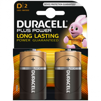 MN1300 DURACELL PLUS POWER D BL2
