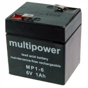 Multipower MP1-6 Loodaccu (6V 1000mAh)