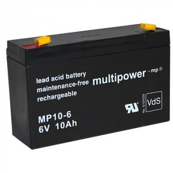 Multipower MP10-6 Loodaccu (6V 10000mAh)