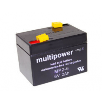 Multipower  MP2-6 Loodaccu (6V 2000mAh)