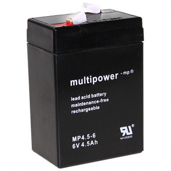 Multipower MP4.5-6 Loodaccu (6V 4500mAh)