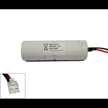 NiCd 2,4V 4000mAh 2xD HT staaf met S04 aansluiting