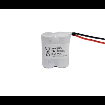 NiCd 2,4V 1800mAh Cs 2SBS - Draadaansluiting