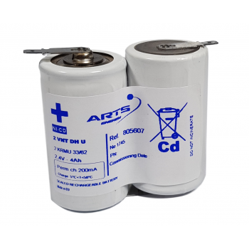 SAFT Noodverlichting accu SBS NiCd 2,4V 4000mAh