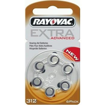 Rayovac Extra Advanced 312 AU6XE hoortoestel batterijen