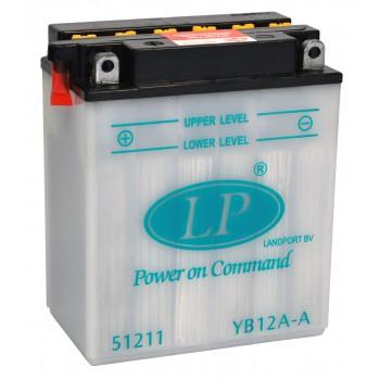 YB12A-A motor accu met zuurpakket