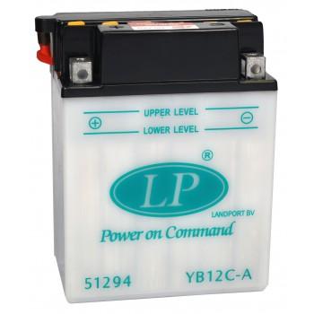 YB12C-A motor accu zonder zuurpakket