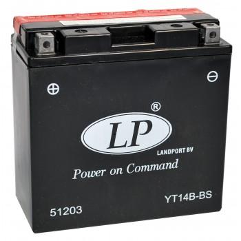 YT14B-BS motor accu met zuurpakket