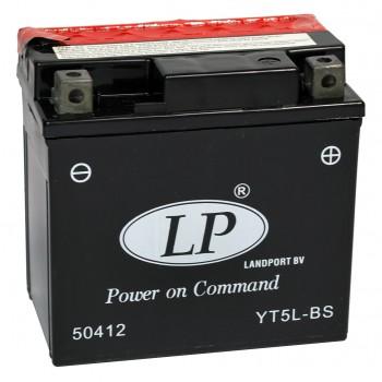 YT5L-BS motor accu met zuurpakket