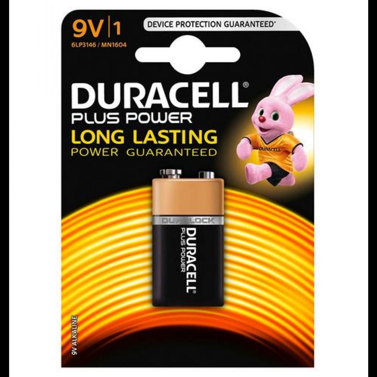 MN1604 Duracell Plus Power 9V BL1