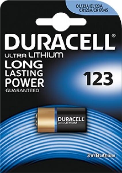 Duracell DL123A / CR123A Lithium Batterij 1-Blister