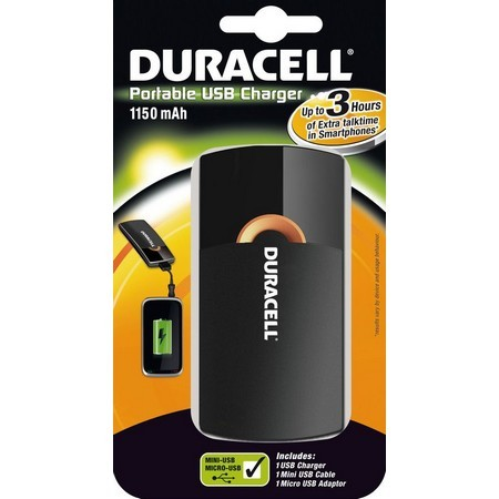 Duracell Portable USB Charger 1150mAH 3H