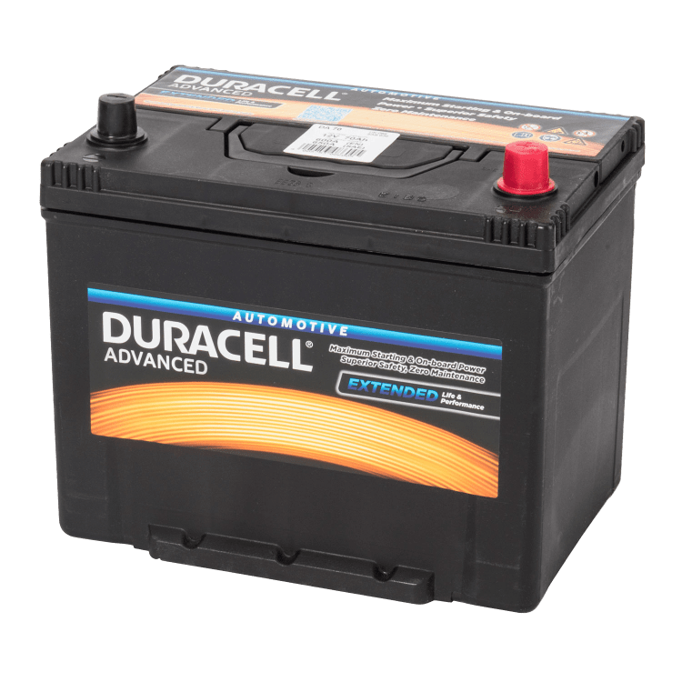 Auto accu Duracell Advanced BDA 70 12V 70Ah