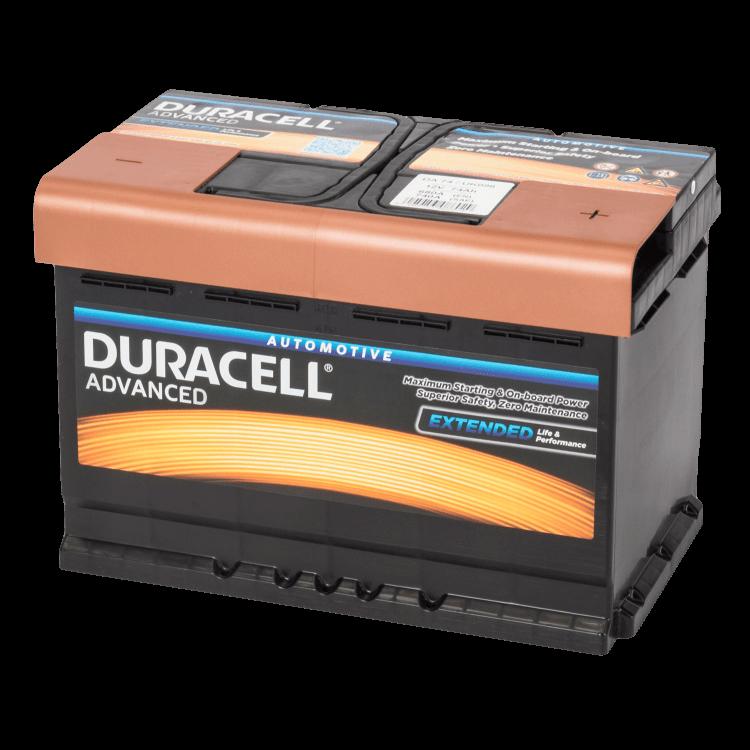 Auto accu Duracell Advanced BDA 74 12V 74Ah