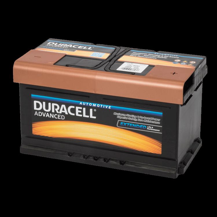 Auto accu Duracell Advanced BDA 80 12V 80Ah