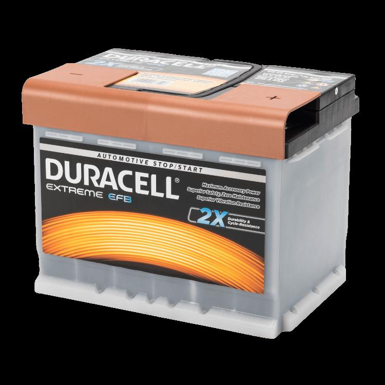 Auto accu Duracell Extreme BDE 60 EFB (12V 60Ah)