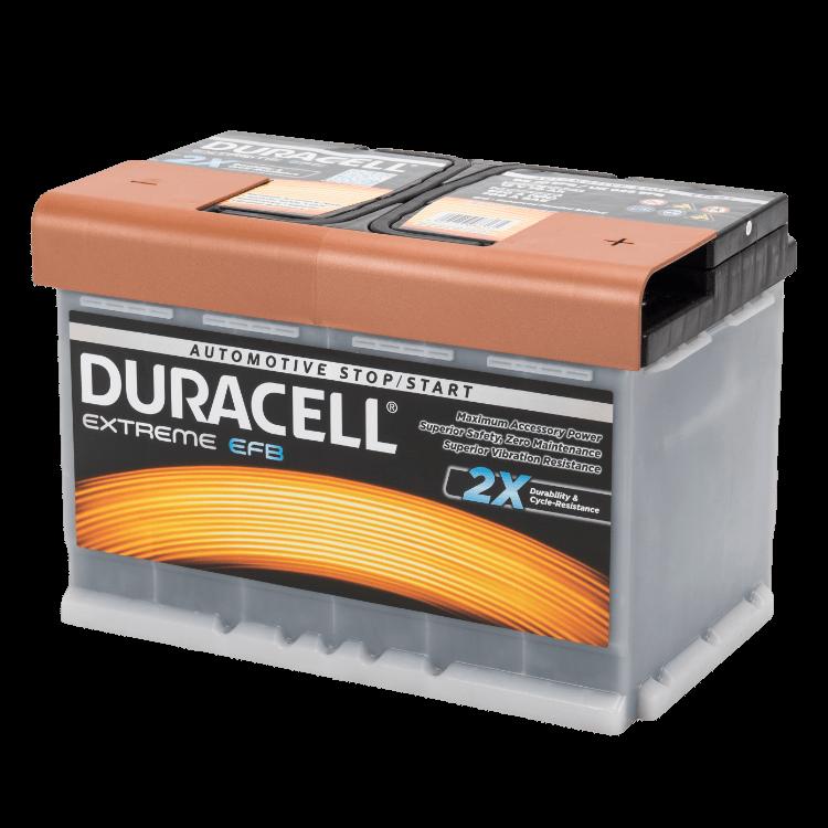 Auto accu Duracell Extreme BDE 70 EFB (12V 70Ah)
