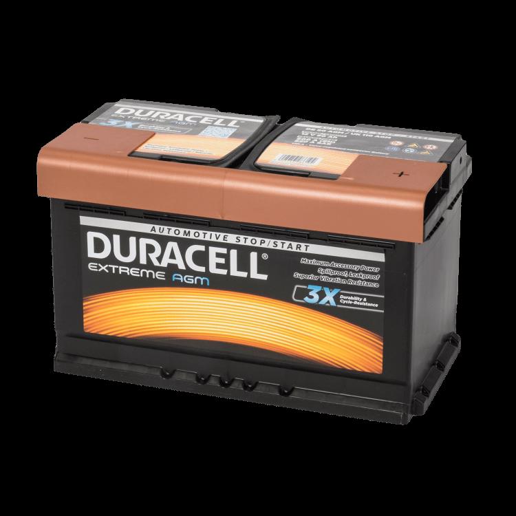 Auto accu Duracell Extreme BDE 80 AGM (12V 80Ah)