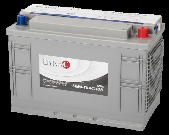 Dynac AGM Semi Tractie accu ST105 12V 105Ah